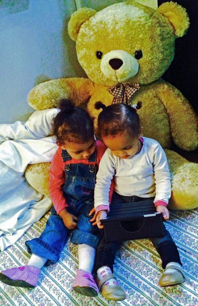A file picture shows couple of children using Qread in Denmark. (Appi Dappi)