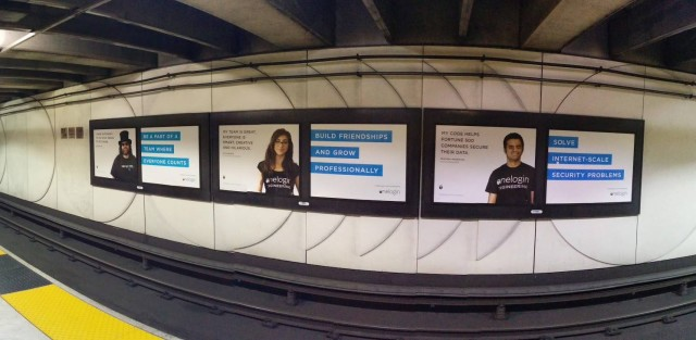 Advertising campaign from OneLogin, featuring Platform Engineer Isis Wenger (C). (Isis Anchalee Wenger)