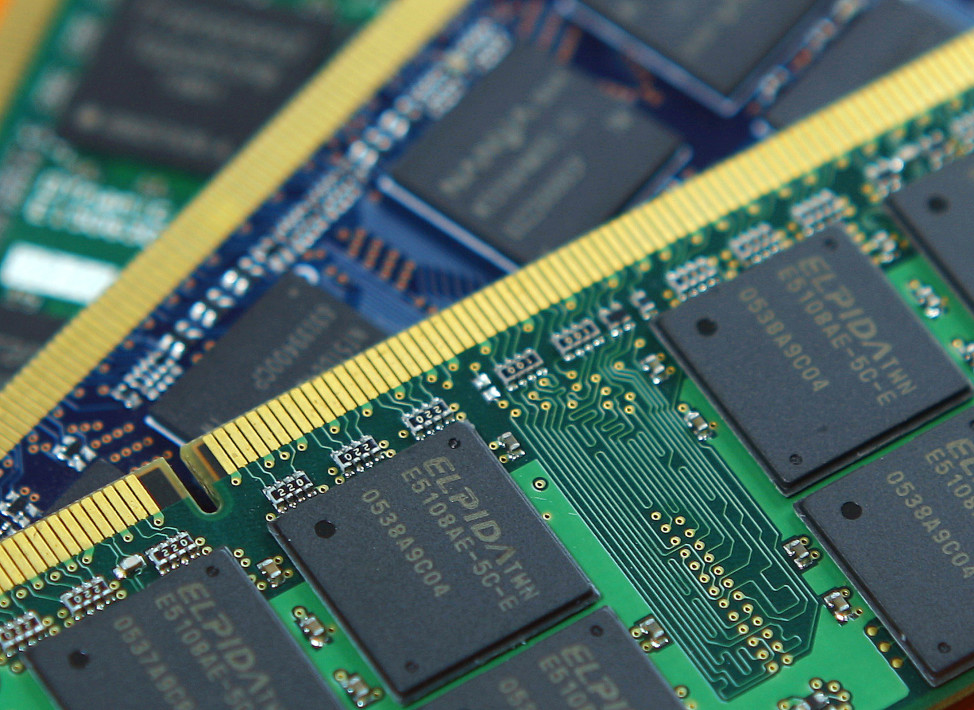 FILE - DRAM memory chips are pictured in Taiwan. (Reuters)