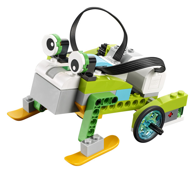A frog children created with LEGO Education's WeDo platform. (LEGO Education)