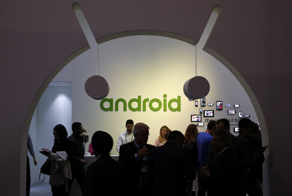 FILE - People visit an Android stand at the Mobile World Congress in Barcelona, Spain. (Reuters)