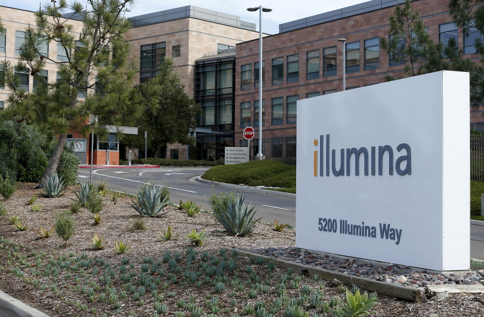 The offices of gene sequencing company Illumina Inc are shown in San Diego, California, Jan. 11, 2016. Illumina is going after the next big advance in cancer detection, working to develop a universal blood test to identify early-stage cancers in people with no symptoms of the disease. (Reuters)