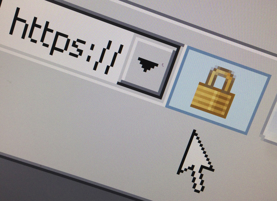 FILE - A lock icon signifying an encrypted Internet connection is seen on an Internet browser in a photo illustration in Paris, France, April 15, 2014. The HTTPS web protocol is more secure than its HTTP predecessor. (Reuters)