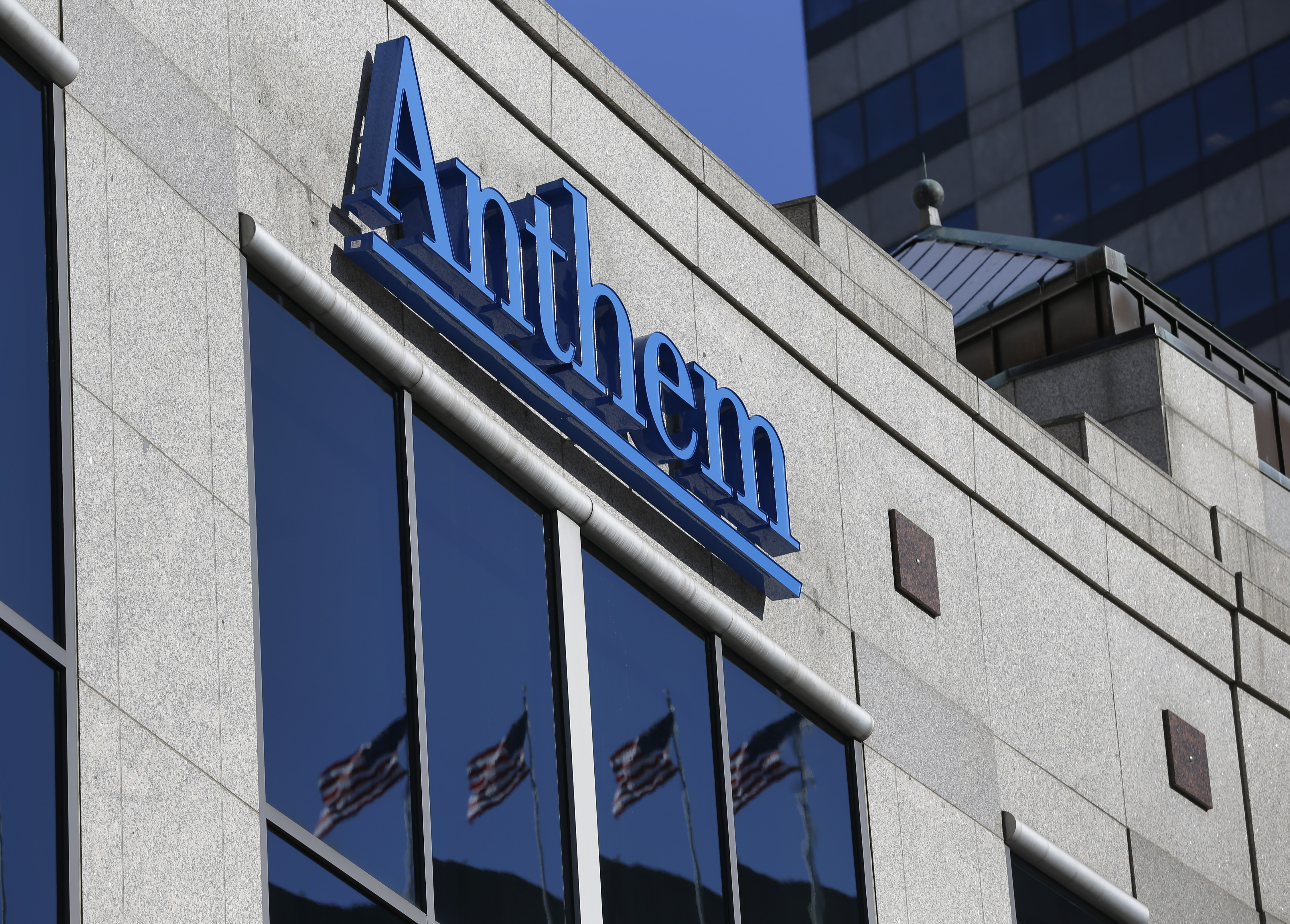 FILE - A Feb. 5, 2015, file photo, the Anthem logo at the health insurer's corporate headquarters in Indianapolis. A lawsuit filed against Anthem over its massive database breach in 2015 rips the insurer's cybersecurity and casts a spotlight on the vulnerability of health care information. (AP)