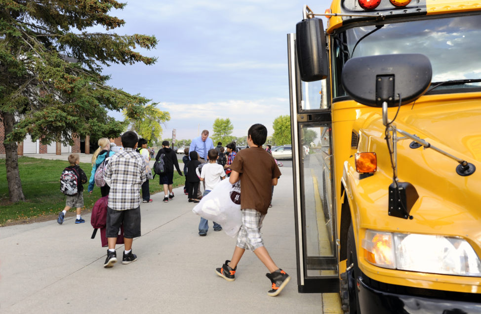 FILE - Students arrive for class at Mahnomen Elementary School in Mahnomen, Minnesota. (Reuters)
