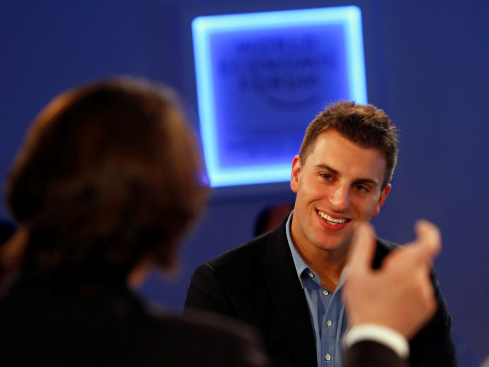 FILE -Brian Chesky, CEO of Airbnb, Davos, Switzerland. (Reuters)
