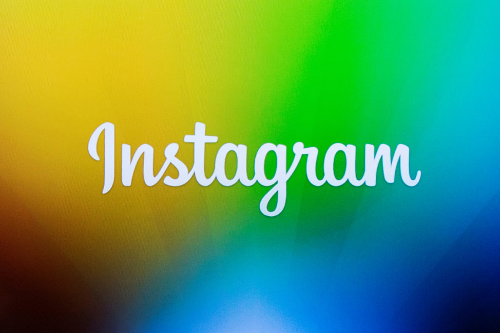 FILE - A screen displays the Instagram logo during a presentation in New York. (Reuters)