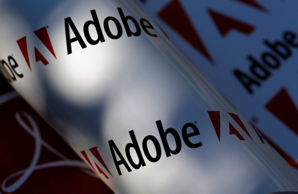FILE - Adobe company logos are seen in this picture illustration taken in Vienna. (Reuters)