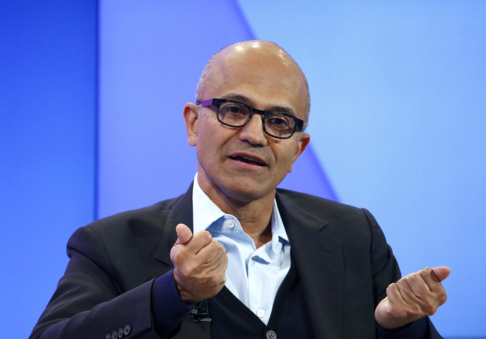 Satya Nadella, CEO of Microsoft Corporation attends the annual meeting of the World Economic Forum (WEF) in Davos, Switzerland, Jan. 17, 2017. (Reuters)
