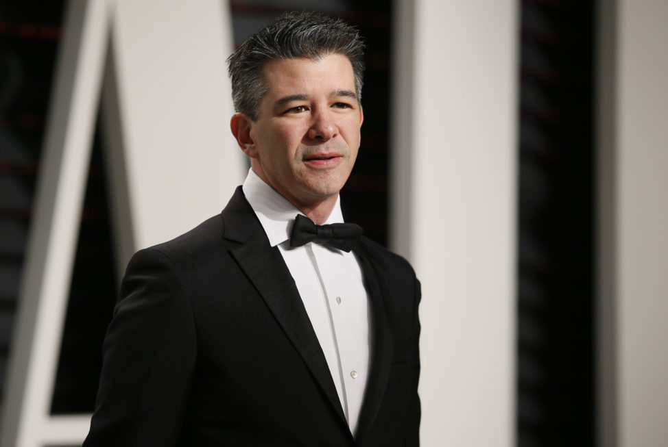 Uber CEO Travis Kalanick poses fpr a picture at the 89th Academy Awards - Oscars Vanity Fair Party in Beverly Hills, California, Feb 26, 2017. (Reuters)