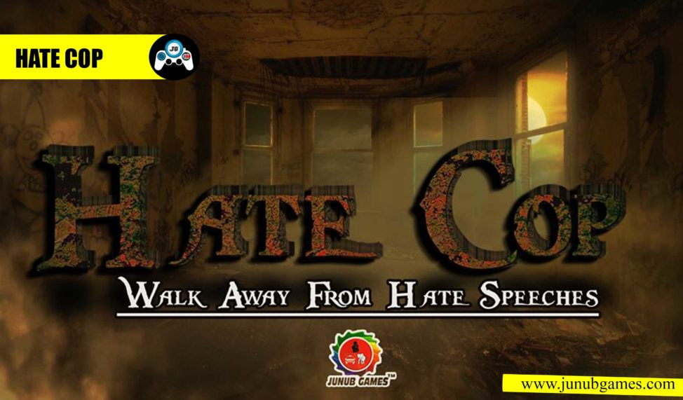 A screenshot from Junub Games' the mobile Game 'Hate Cop.' (Lual Mayen)