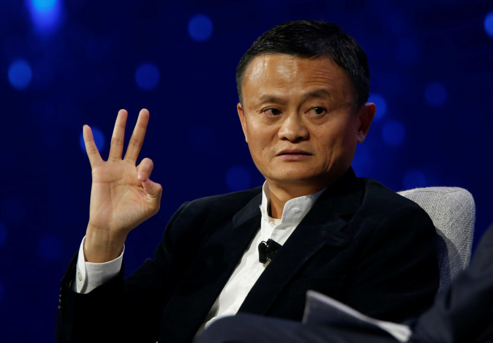 Jack Ma, Founder and Executive Chairman, Alibaba Groups, talks with American television host Charlie in Detroit, Michigan, U.S., June 20, 2017. (Reuters)