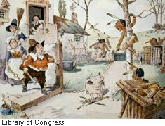 This thanksgiving caricature created about 1902 carried a caption
