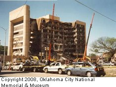 Murrah Building after bombing