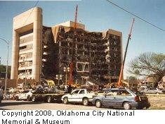 Murrah Building after bombing