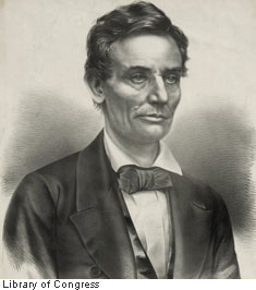 Presidential candidate Lincoln