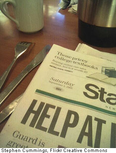 Paper and breakfast