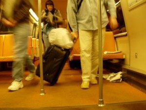 My next crusade will target newspaper trashers, who think the floor — and seat, in this case — of the Metro is a public dump.  This is a mild example.  You should see the train floor at the end of a day's run.  (markbrennan, Flickr Creative Commons)