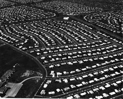 This is either Levittown, Pennsylvania, or a rat maze. (Wikipedia Commons)