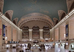 Rail commuters from the suburbs may have been ordinary folks, but many of the terminals in which they arrived for work downtown were veritable transportation cathedrals. This is New York's famous Grand Central Station, to which commuters arrived on 67 tracks. (Carol M. Highsmith)