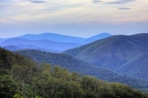 "The Appalachian Trail winds right through Virginia's gorgeous Shenandoah National Park.  Along it, you'll find both ""day trippers"" and thru hikers, mostly heading south from Maine to Georgia.  (Brendan Reals)"