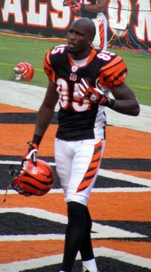 Mr. Ochocinco was still Chad Johnson when this colorful photo was taken.  (Wikipedia Commons)