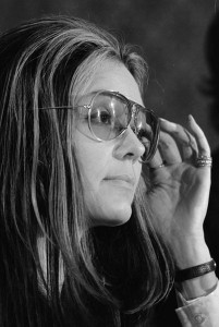 Even though she had once been a Playboy Bunny, Gloria Steinem became one of the most strident and outspoken leaders of the feminist movement.  When she married — wearing jeans and a flower in her hair at age 66 — she most certainly kept her name.  (Library of Congress)