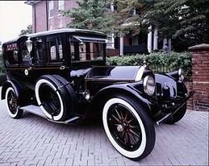 President Woodrow Wilson used to love to ride in his 1919 Pierce-Arrow limousine, which awaited his return from the Treaty of Versailles ceremonies in Paris that ended World War I.  His friends later bought the car for him.  (Carol M. Highsmith)