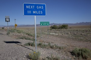 "Never in my travels have the words ""fill 'er up"" had more significance. (Carol M. Highsmith)"