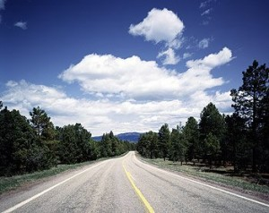 Sometimes, as here in America's high country, you feel like they built the road just for you.  (Carol M. Highsmith)