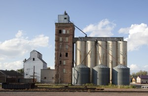 In Beach, North Dakota (which has no beach), as in hundreds of other communities across the rural state, the grain elevator is the tallest building in town.  (Carol M. Highsmith)
