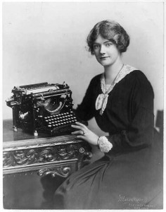 And this (on the left!) is a typewriter, vintage 1918 but not a lot different from the one on which I wrote for 20 years.  (Library of Congress)