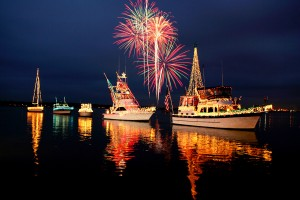Colorfully decorating and then parading fishing boats at Christmastime is an Acadadiana tradition. (www.VisitLakeCharles.org)