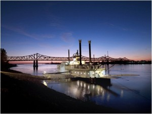 Carol took this lovely photo of a Mississippi riverboat in graceful Natchez.  I wish there were room to also show you some of the beautiful springtime shots of Natchez, the first capital of Mississippi Territory when it was carved out of the State of Georgia and Gulf-shore land owned by Spain. (Carol M. Highsmith)
