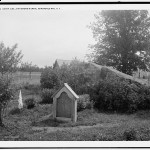 "This is where John Brown's body lay ""a-mouldering,"" on the grounds of a farm he once rented in New York state.  (Library of Congress)"