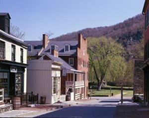 Harpers Ferry is so small, even with its national park visitorship, that you can practically step right into the woods at the edge of town.  (Carol M. Highsmith)