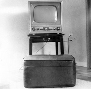 Early TV seemed like a miracle, all right.  But we still listened to new-fangled transitor radio. (John Atherton, Wikipedia Commons)