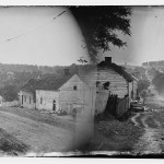 "This was ""downtown"" Sharpsburg in a stereopticon view taken the year of the great battle outside town.  (Library of Congress)"