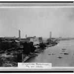 Georgetown harbor in 1910 looks grimy and industrial.  There's no sign of classy stores or townhomes, that's for sure. (Library of Congress)