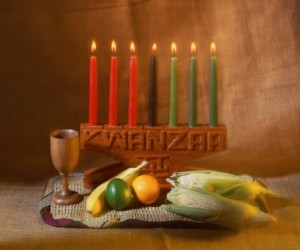 A Kwanzaa tradition in some households is to place as many ears of corn as there are children in the family on the holiday display.