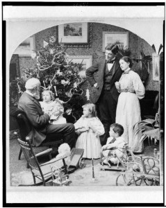 Grandpa looks a lot like Santy Claus.  (Library of Congress)