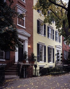 Georgetown is loaded with row houses of the elegant sort. Most have every amenity — except garages. (Carol M. Highsmith)