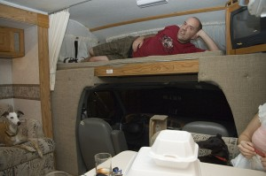 "Cozy — some would say ""cramped"" — quarters come standard in many motor homes.  (Jessa B.C., Flickr Creative Commons)"