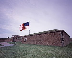 Fort McHenry was built just after America's war for independence to guard the busy port of Baltimore from seaborne attack.  And it worked like a charm in Charm City during another war with the British years later.  (Carol M. Highsmith)