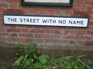 Good, if you're a spell-checker.  A street with no proper name to botch. (Gene Hunt, Flickr Creative Commons)