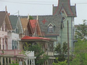 A splendid row of ornate Cape May Victorians.  (Patricia Wedding)