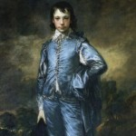 Here's the famous Blue Boy, the original of which hangs at the Huntington Library in California. He doesn't look like much of an athlete.