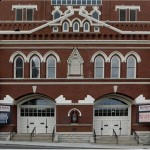 "This looks like school building, or maybe an old armory.  But it's the world-famous Ryman Auditorium, the original home of the Grand Ole Opry, the ""Mother Church of Country Music.""  (Carol M. Highsmith)"