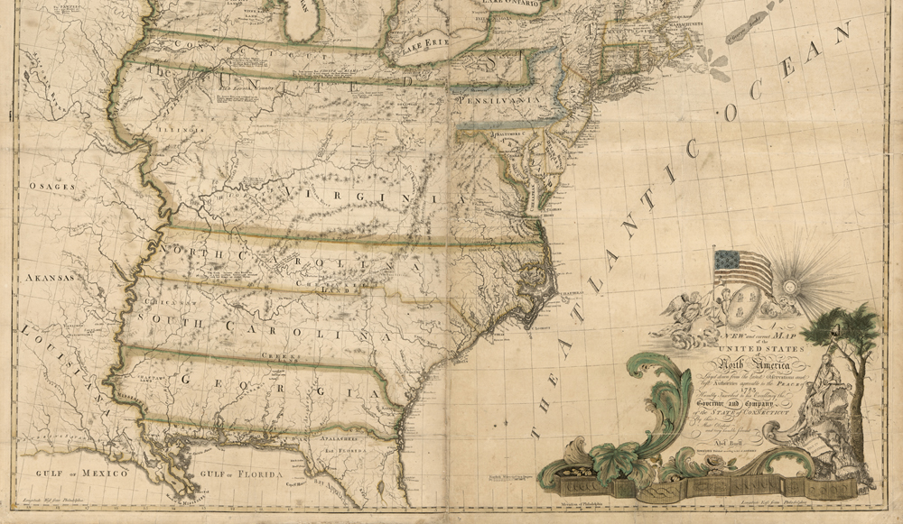 In their original form, states like North Carolina kept going and going. (Library of Congress)