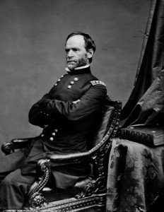I neglected to ask Tom Wheeler about Union General William Sherman, who relentlessly drove the Confederates into submission.  He was decisive, for sure.  (Library of Congress)